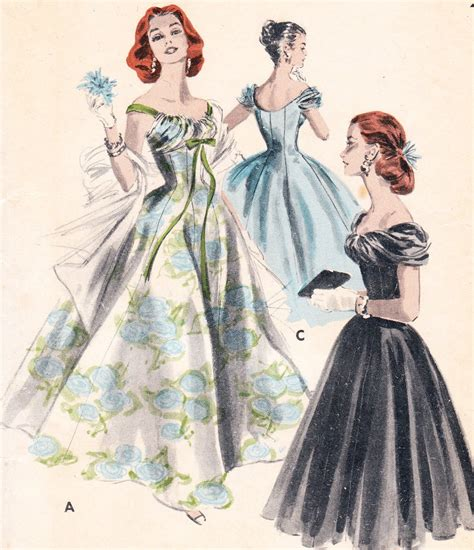 evening gown c 1950s vintage the nostalgic series 1950s evening dress and gowns