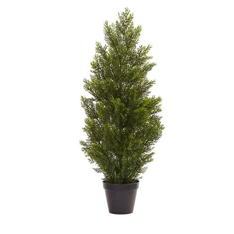Tree Home Depot by Nearly 3 Ft Indoor Outdoor Mini Cedar Pine Tree