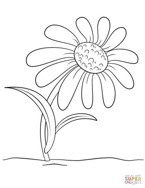 cartoon flower coloring page free cartoon daisy flower coloring page flowers funny