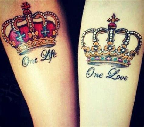tattoo beauty queen tatuaje cu coroane pentru cupluri quot king and queen
