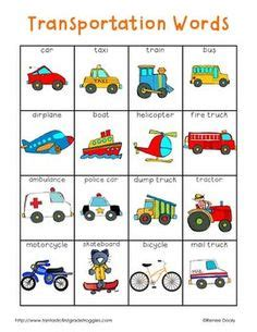 learning pattern word wall preschool transportation clipart collection