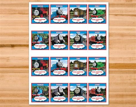 printable thomas stickers printable personalized thomas and friends cupcake toppers