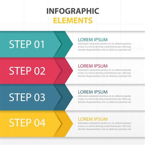Template With Infographic Elements Vector Free Download Step By Step Template