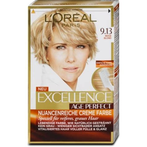 loreal farbe dm l or 233 al excellence age perfect creme farbe 8 75 dm