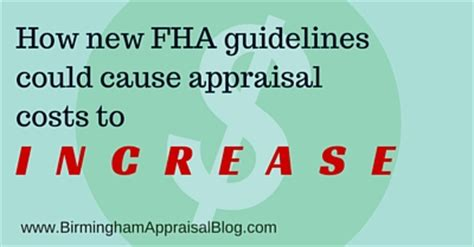 how new fha guidelines could cause appraisal costs to
