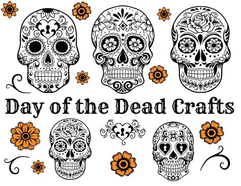 day of the dead mask template day of the dead crafts