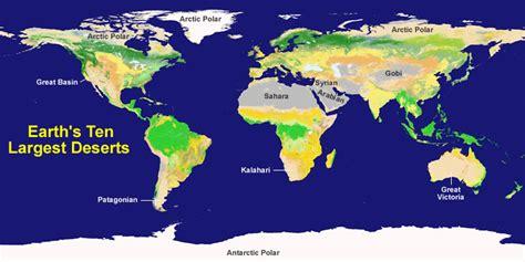 map of deserts largest desert in the world desert map
