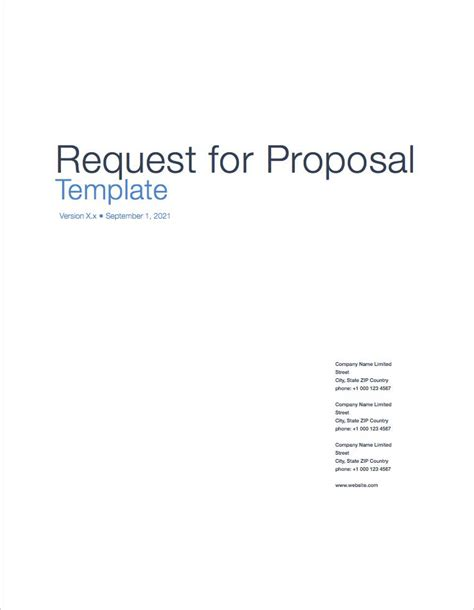 request for proposal apple iwork pages numbers