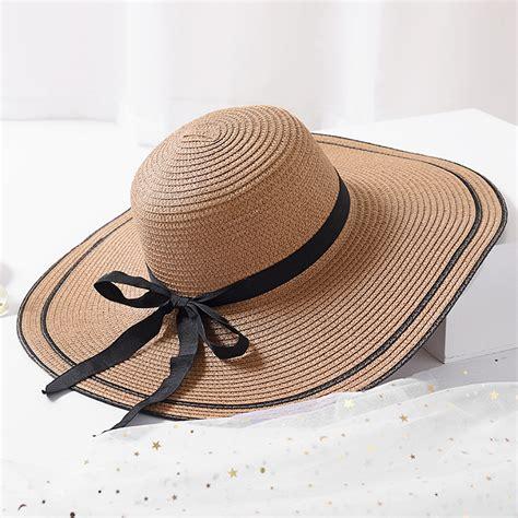 Foldable Straw Hat big brim hat floppy foldable straw hat summer hat