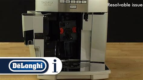 how to reset a stuck infuser for your de longhi esam coffee machine