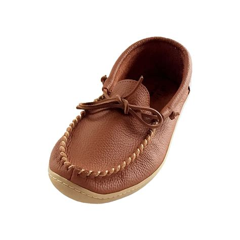 mens moccasin sneakers s rubber sole brown genuine leather moccasin shoes