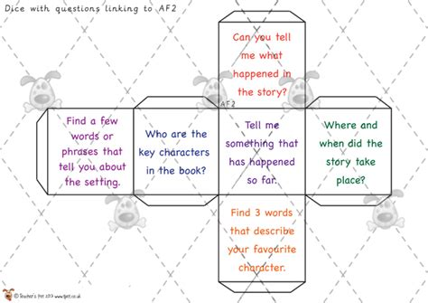 printable games for classroom teacher s pet reading question dice premium printable