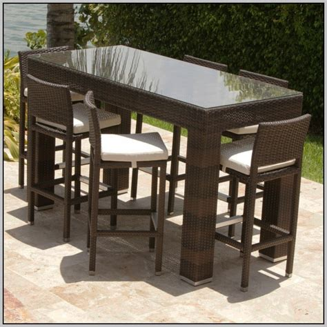 wicker high top patio table page home design