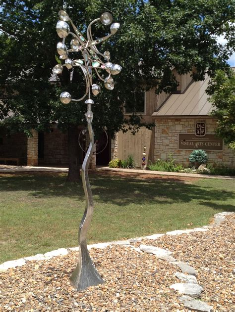heb texas backyard kinetic sculpture custom work hill country arts