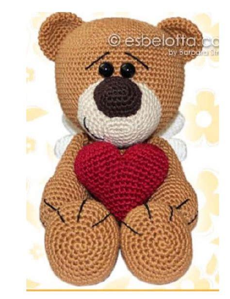 Ours Au Crochet Modèle Gratuit ours grand coeur crochet