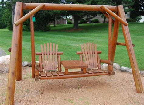 Backyard Creations Cedar Log Swing 17 Best Images About Outdoor Furniture And Decor On