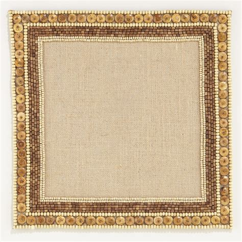 Beaded Place Mats by Beaded Square Placemats Set Of 2 World Market