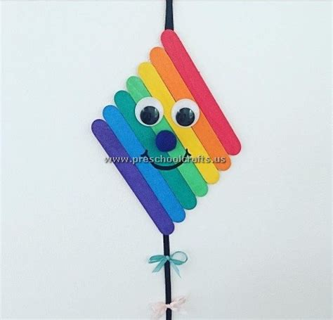 kite craft for kite craft idea from popsicle sticks preschool crafts