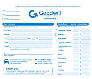 donation receipt form template 9 donation receipt templates free sles exles format