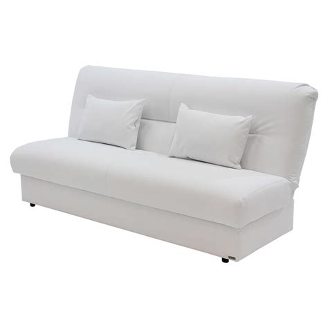 White Futon by Regata White Futon El Dorado Furniture