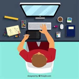Online Graphic Design graphic designer workplace vector free download