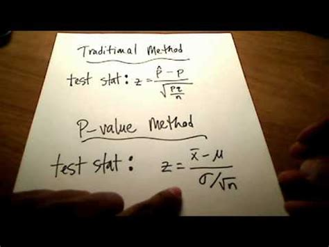stats hypothesis testing p value method