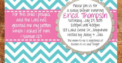 Christian Baby Shower Free Printables by Baby Shower Invitation For This Child I Prayed Christian