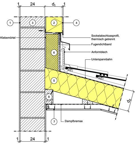 dachanschluss pultdach detailseite planungsatlas hochbau au 223 enwand mit