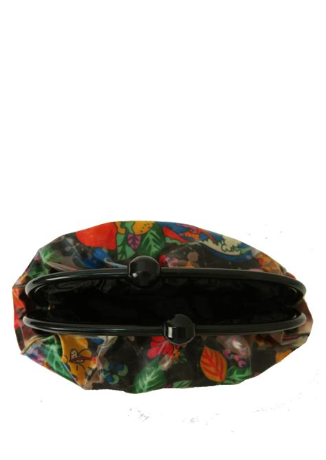 Retro Pop Sweatshirt Clutch Bag By Or Dead by Multicoloured Fruit Floral Patterned Vinyl Clutch Bag