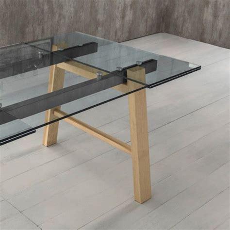 tavoli legno e vetro allungabili jordy tavolo allungabile design moderno in legno metallo e