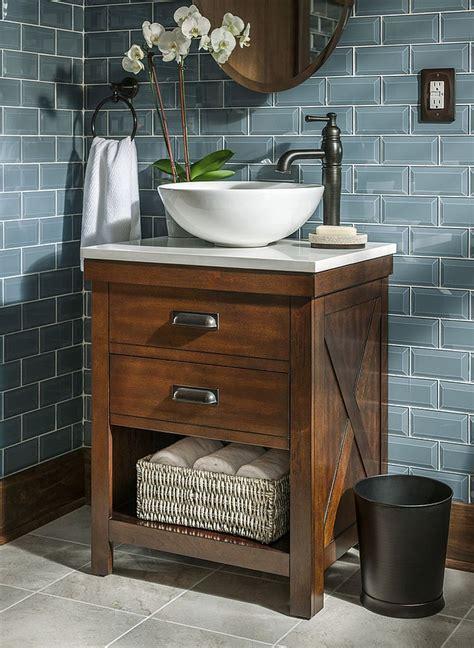 rustic bathroom vanities for vessel sinks stylish and diverse vessel bathroom sinks