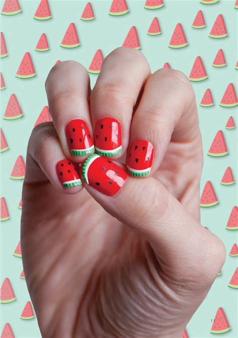 tutorial watermelon nail design 15 watermelon diy projects for national watermelon day