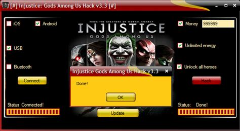 power hack tools 2016 injustice gods among us hack v3 3 - Injustice Hack Android