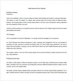 bakery business plan free small business plan template
