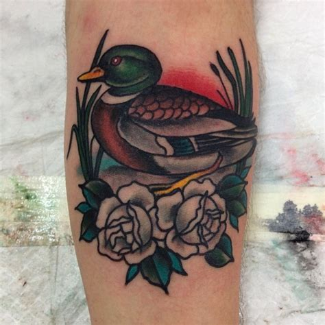 duck head tattoo designs sleeves forearm australian artists