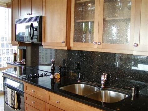 Kitchen Slab Design Matching Granite Backsplash Or Tile