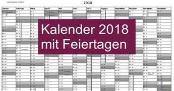 Kalender 2018 Hessen Kostenlos Kalender 2018 Mit Feiertagen Freeware De