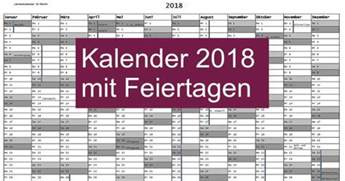 Kalender 2018 Mit Feiertagen Kalender 2018 Mit Feiertagen Freeware De