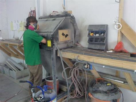 Sand Blasting Cabinet Dust Collector by Pressure Pot Media Blaster In A Cabinet Converting To