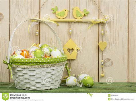 Easter Wooden Decorations by Easter Decorations Wooden Box With Flowers And Eggs