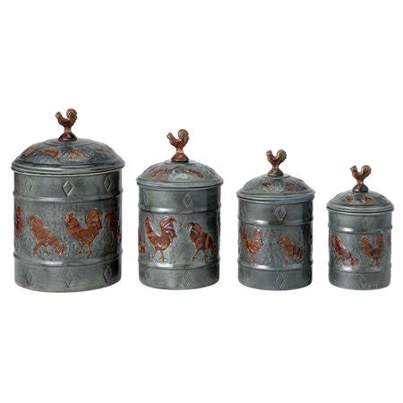 rooster kitchen canisters international rooster 4 fresh canister set walmart