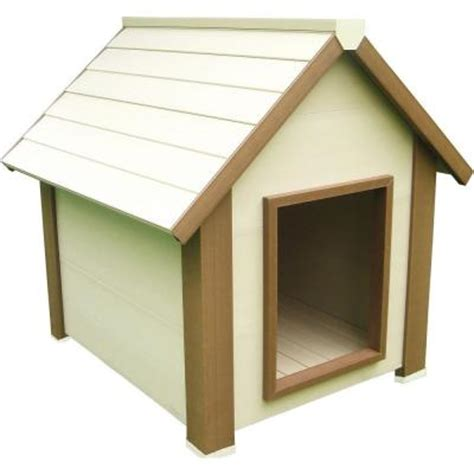 homedepot dog house new age pet eco concepts hi r canine cottage insulted extra large dog house ecoh501xl