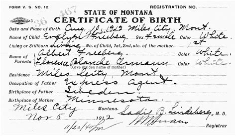 Montana Birth Records Montana Birth Certificates Gallery Birth Certificate Design