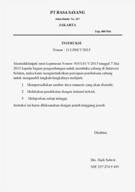 contoh surat edaran undangan contoh surat materi