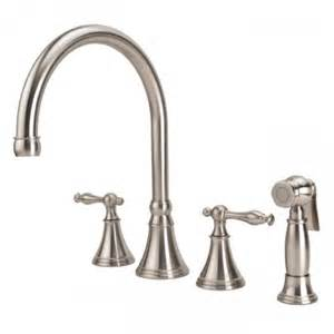 fontaine kitchen faucet fontaine hi arc kitchen swivel faucet with pull out side spray in brushed nickel lh88801