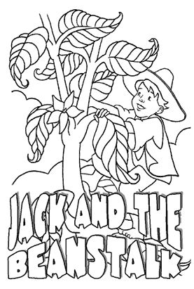 bean stalk colouring pages