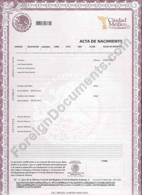 mexican birth certificate template best photos of mexican marriage certificate translation