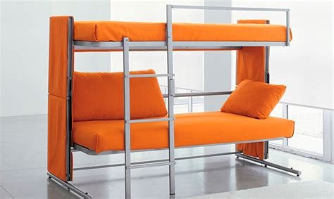 Gadget Sofa by Sofa Transforms Into A Bunk Bed In A Snap