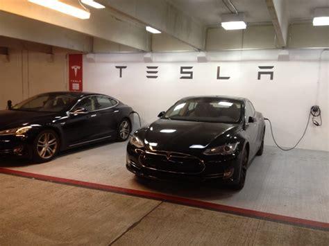 tesla domain tesla sown charging stable in the domain parking garage