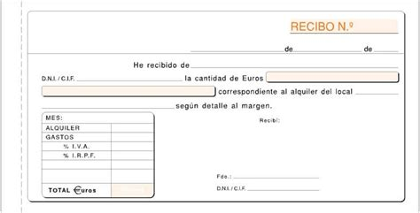 recibos alquiler local 2016 talonario recibo alquiler con copia duplicado formato 1 3